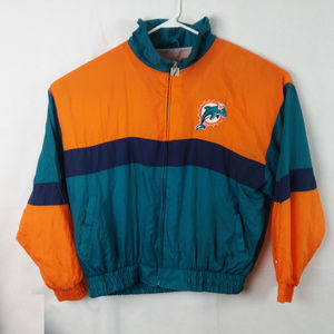 Miami Dolphins Windbreaker Jacket Men's XL